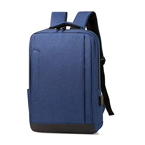 Elegante draagbare rugzak voor zakenreizen, school, diefstalbeveiliging, USB-aansluiting voor koptelefoon met hoge capaciteit, voor mannen en vrouwen, random color (blauw) - 56423168823