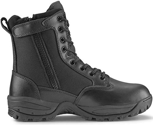 Maelstrom Men's TAC FORCE 8 Inch Military Tactical Duty Work Boot with Zipper, Black, 9.5 W US