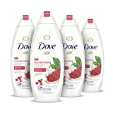 Dove Rejuvenating Body Wash for Softer, Smoother Skin After Just One Use Rejuvenating Pomegranate and Hibiscus Tea Effectively Washes Away Bacteria While Nourishing Your Skin 22 oz, 4 Count