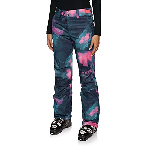 O'Neill Damen Snowboard Hose Glamour Pants, Blue AOP w/pink-Purple, M