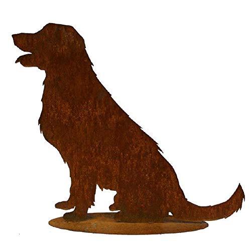 EQT-TEC *Premium* Gartendekoration Edelrost Hund 60,5cm Rostdeko Garten Dekoration Roststecker Rostfigur