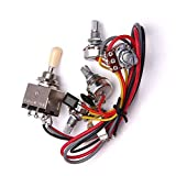 Electric Guitar Circuit Wiring Kit Guitar Circuit Wiring Harness Kit with 3 Box Toggle Pickup Selector 2V/2T/1J fit for LP Electric Guitar