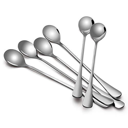 Sweese Coffee Spoons, Long Handle Iced Tea Spoon, Stainless Steel Cocktail Stirring Spoons, Set of 6