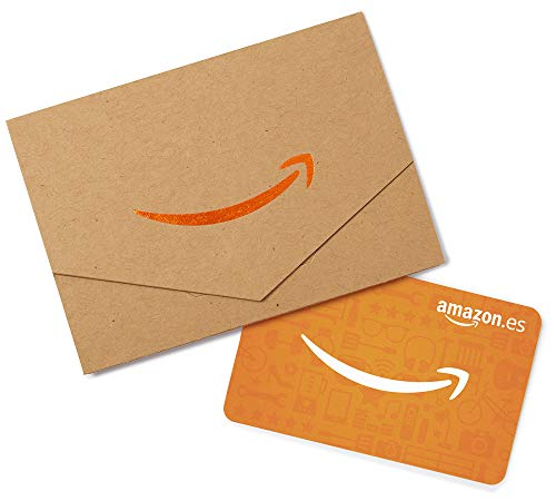 Tarjeta Regalo Amazon.es - Mini sobre Kraft y naranja