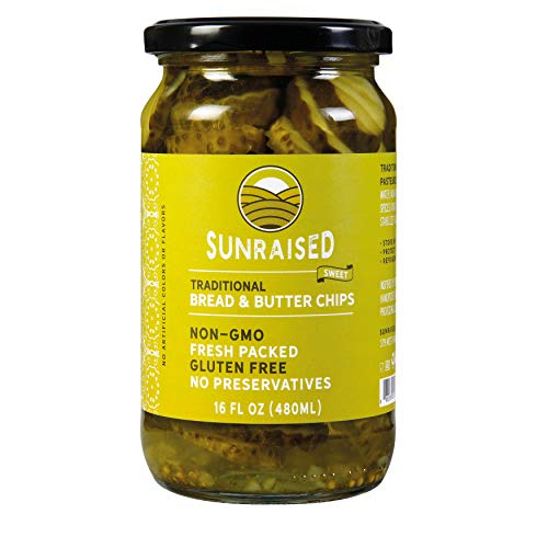 Sunraised Sweet Bread & Butter Chips Pickles, 16 oz