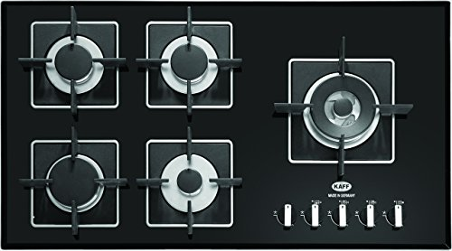 Kaff Appliances 5 Burner Hob, Black, KHNY 90 (10 Years Warranty)