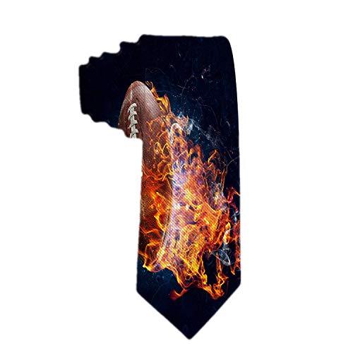 Klassische Herren Krawatte American Football Fire Rugby Krawatte gewebt Krawatten