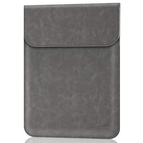 TECOOL 13-13.3 Zoll Laptop Hülle Tasche, Faux Leder Schutzhülle für 2010-2017 MacBook Air 13 A1466/A1369 2012-2015 MacBook Pro 13 A1502/A1425, Huawei Matebook X Pro/D14, 13.5