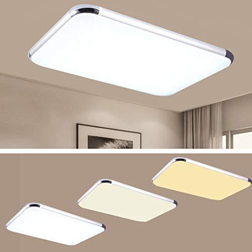 CASNIK LED Deckenleuchte 72W Modern Dimmbar Deckenlampe Ultraslim Schlafzimmer Küche Flur Wohnzimmer Lampe Energie Sparen Licht (72W Dimmbar)
