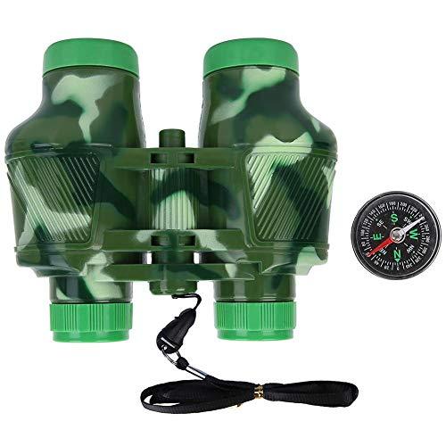 Nitrip Kind Kind Outdoor Vogelbeobachtung Fernglas Kinder Teleskop Set mit Kompass Spielzeug Geschenk (grün)