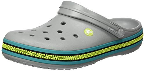 Crocs Unisex-Erwachsene Crocband Zipper Band Clog Clogs, Hellgrau Latigo Bay, 42/43 EU