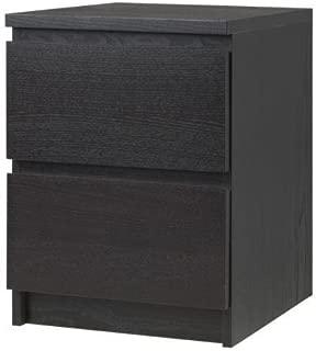 Ikea 2 Drawer Dresser Nightstand (black-brown)