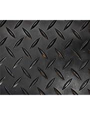 Revestimiento de Caucho Antideslizante  Suelo de Goma PVC Negro 1mm Diseño Estrias