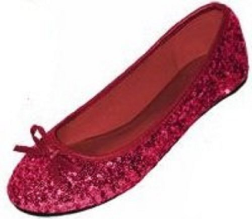 Shoes 18 Womens Sequins Ballerina Ballet Flats Shoes 4 Colors Available 9/10, 2001 Ruby Sequins