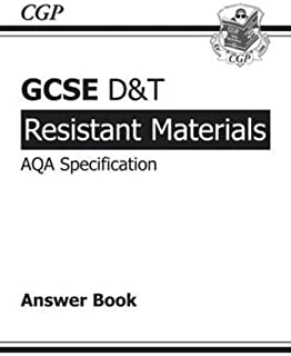 GCSE D&T Resistant Materials AQA Exam Practice Answers (for Workbook) by CGP Books (2010) Paperback