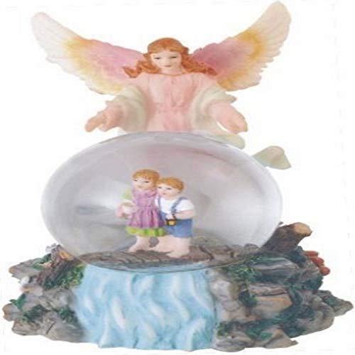 Snow Globe Guardian Angel Collection Figurine Desk Decoration