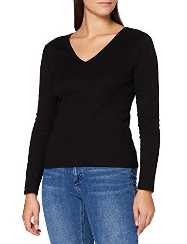 Petit Bateau 5831501 T-shirt Iconisch, V-hals - zwart - Medium
