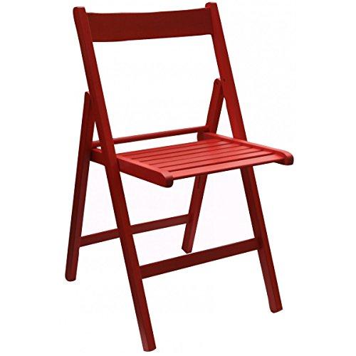 Scaramuzza Modo Klappstuhl aus farbigem Holz rot
