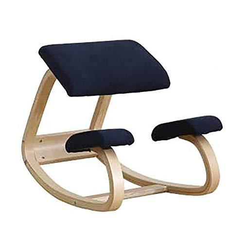 Silla de rodillas silla silla ergonómica silla de oficina Squat Corrección de ocio taburete para proteger la columna vertebral de rodillas silla de ordenador de material de madera maciza