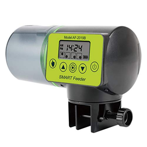 Nrpfell Alimentador Automático de Peces Alimentador Automático de Peces Eléctrico Alimentador Peces de Vacaciones Dispensador de Alimentos para Peces una Prueba de Humedad para Acuarios