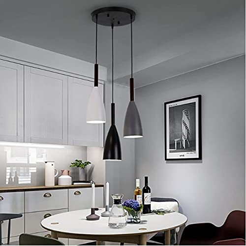 Macaroon 3 in 1 Pendant Kitchen Lights, HUIBONA Lovely Pendant Ceiling Light Fixture for Dining Room Kitchen Island Study Desk (Bulbs Did Not Include)