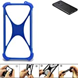K-S-Trade® Handyhülle Für Meizu Pro 6S Silikon Schutz Hülle Cover Case Bumper Silikoncase TPU Softcase Schutzhülle Smartphone Stoßschutz, Blau (1x),