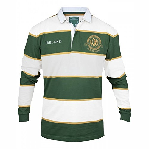 Irish Rugby Jersey - Green & White, Large