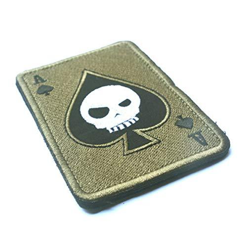 banbie8409 Todeskarte Rechteckige Flecken Stickerei Spaten EIN Poker Tactical Flecken Militärmoral- TAD Armband Armee Stoff Kampfabzeichen
