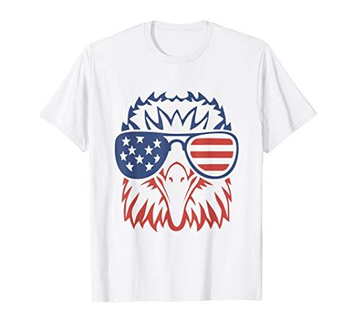 Patriotic Eagle T-Shirt 4th of July USA American Flag Tshirt T-Shirt