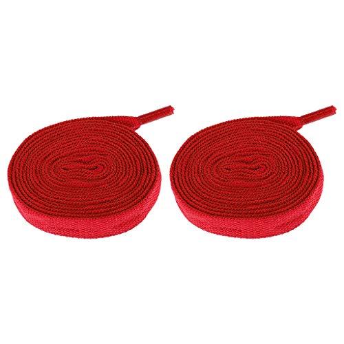 MagiDeal Paire de Lacets Tricotés Patins à roulettes Corde Chaussures Sport Extérieur - Rouge, 180cm