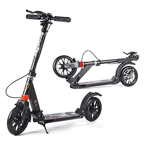SOAR Patinetes Para Niños Montar portátil al aire libre kick scooter-adulto scooter con ruedas grandes de la mano del freno de disco, plegables de doble suspensión del viajero Scooters, con altura aju