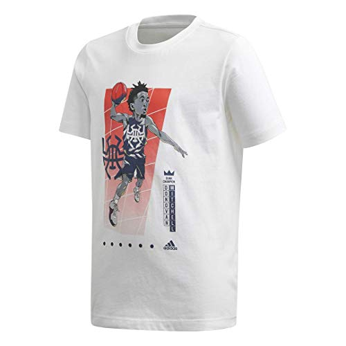 adidas Kids Unisex Donovan Mitchell Geek Up Tee White X-Large