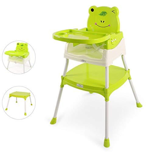 KUANDARYJ Chaise Haute Bébé Réglable, Pratique et Compacte Chaise Haute évolutive, Green