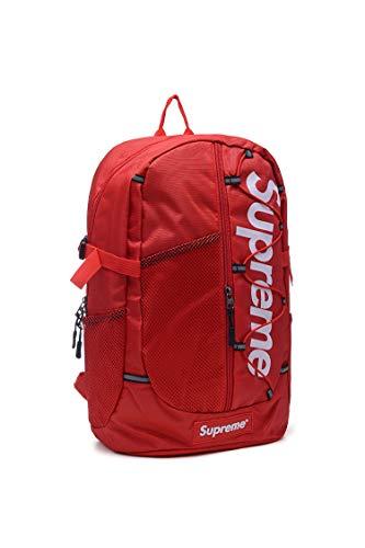 Supremes Unisex Rucksack Tasche Laptoptasche Tasche Backpack (Rot weiß)