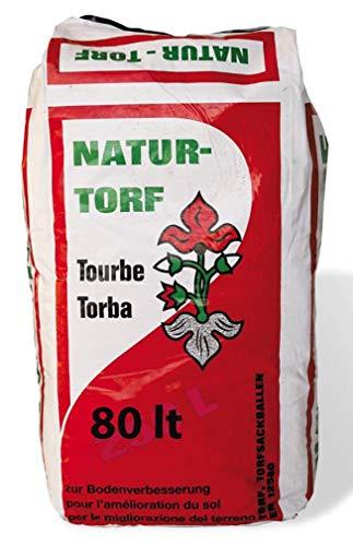 VIALCA Torba per Giardinaggio BIOLOGICACONFEZIONE LT.80 - Torba BIONDA 0-40 Natural Torf Sacco LT.80