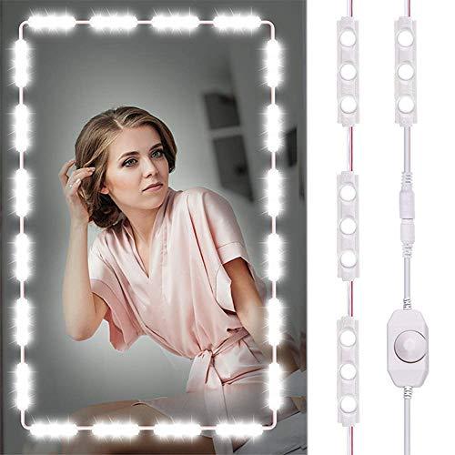 Dewanxin Luces LED de Espejo Luces de camerino,DIY Lámpara para Espejo de Maquillaje, Luces Modulos para Espejo,Armario,estantería,tocador,60 Bombillas LED