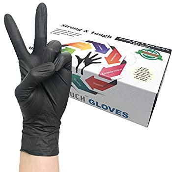 Heavy Duty Nitrile Gloves Infi-Touch Strong & Tough High Chemical Resistant Disposable Gloves Powder-Free Non Sterile 100 Gloves  X-Large