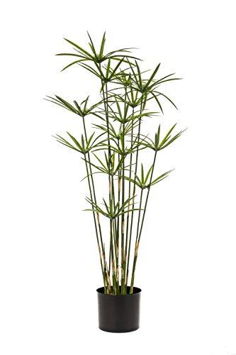 PARC Network Kunstgras Zyperngras, grün, 90cm - Cyperus Plastikgras - Kunststoff Zyperngras - Kunstpflanze - Künstliches Gras - Dekogras Cyperus