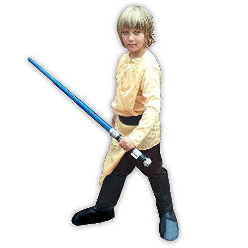 shoperama Disfraz infantil de Luke Skywalker Star Wars para niños pequeños, talla 120 - 7 años