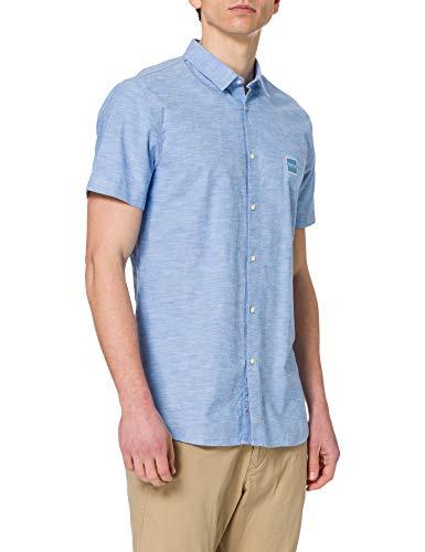 BOSS Magneton_1-Short 10195830 02 Camisa, Azul Abierto, L para Hombre