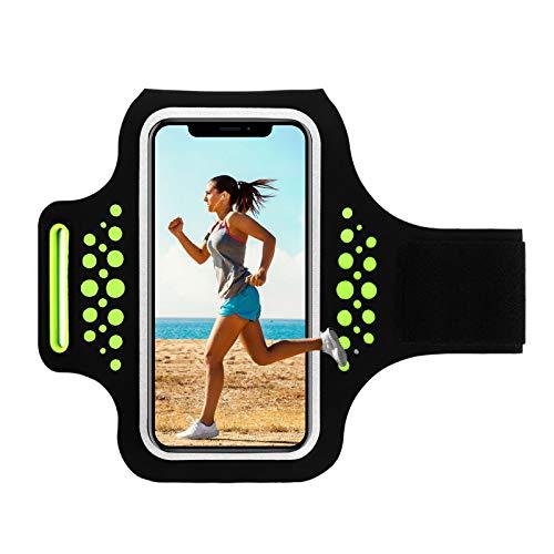Brazalete Deportivo Running Compatible para Móviles iPhone X/7/8, Galaxy S8/S7/S6, Impermeable a Prueba de Sudor, tienen un Bolsillito, perfecto para Fútbol, Gimnasio o Ciclismo