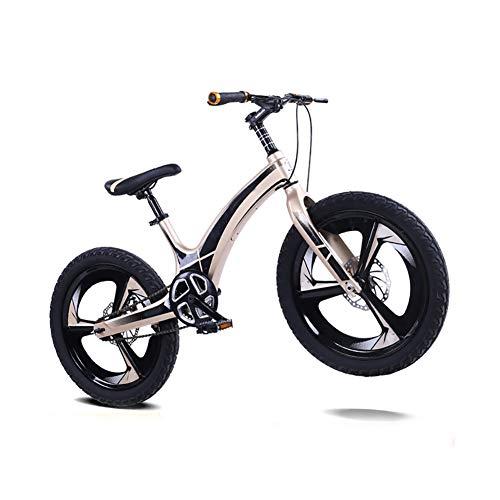 Xingxings Mountainbike voor kinderen, magnesiumlegering, schijfrem, 20 inch, geen schakelhendel met antislip en slijtvaste banden voor het rijden in de stad en pendelen