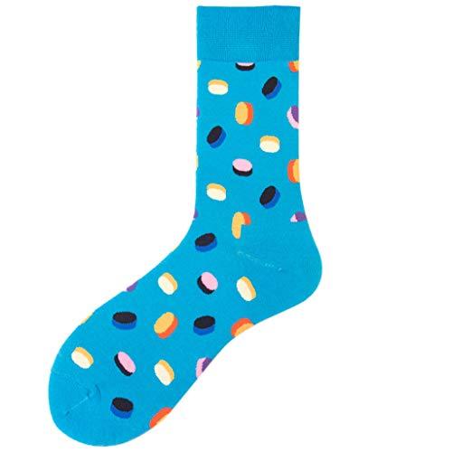 ZEELIY Langer Abschnitt Socken Drucken Farbe Unisex Gitter Farbe Socken