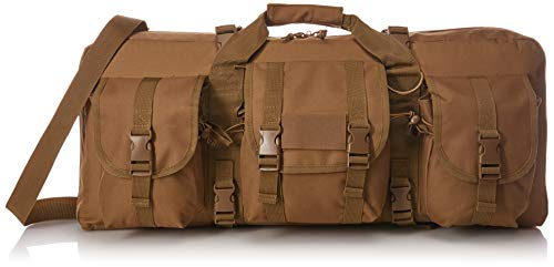 """VISM by NcStar Deluxe Pistol and Subgun Gun Case with 3 Accessory Pockets, Tan, 28"""" L x 13"""" H"""