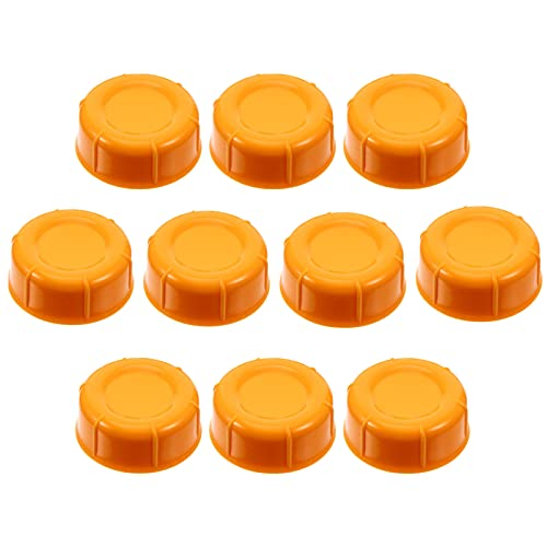 TOYANDONA 10pcs Milk Bottle Caps Plastic Airtight Baby Feeding Bottle Lids Wide Neck Bottle Cap Replacement for Spectra Bottles Glass Bottles Water Drink Bottles Orange