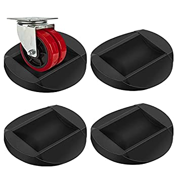 Bed Stoppers Furniture Stopper 4 Pack Wheel Stoppers Furniture Caster Cups - Premium Solid Rubber Caster Cups Furniture Cups Fits to All Floors & Wheels of Sofas Beds Chairs Prevents Scratches