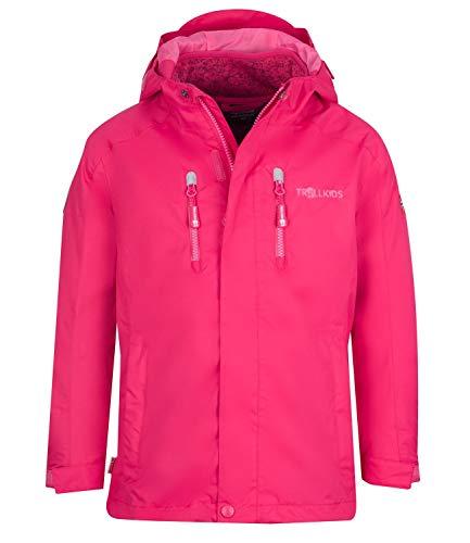 Trollkids Kinder 3in1 Jacke Lofoten, Pink, Größe 128