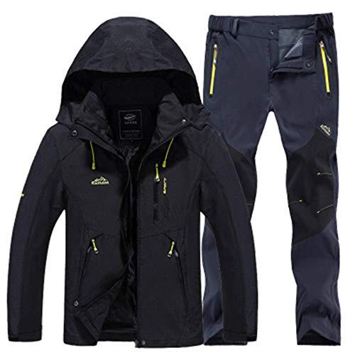 Winterjas Sportkleding Wollen jas en wandelbroek voor heren Warme skikleding Bergbeklimmen Trend windjack