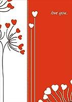 igsticker ポスター ウォールステッカー シール式ステッカー 飾り 1030×1456㎜ B0 写真 フォト 壁 インテリア おしゃれ 剥がせる wall sticker poster 005153 ラブリー ハート 赤 白