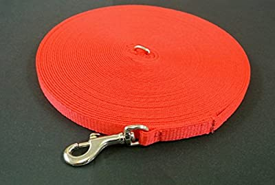 Church Products UK 30ft 9m Dog Training Lead Puppy Obedience Leash 13mm Strong Webbing In (Red)
